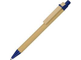 Ручка шариковая Salvador, натуральный/синий, синие чернила (артикул 10620001)