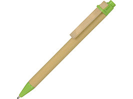 Ручка шариковая Salvador, натуральный/зеленый, черные чернила (артикул 10612301)