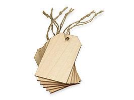 Набор деревянных ярлыков 9,3*5,5 см, 6шт (артикул 158905)
