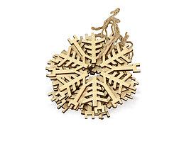 Набор деревянных снежинок, 6шт (артикул 158907)
