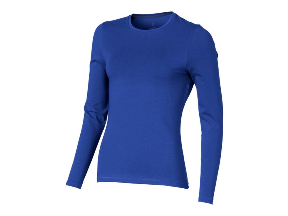 Ponoka женская футболка из органического хлопка, длинный рукав, синий (артикул 38019442XL)