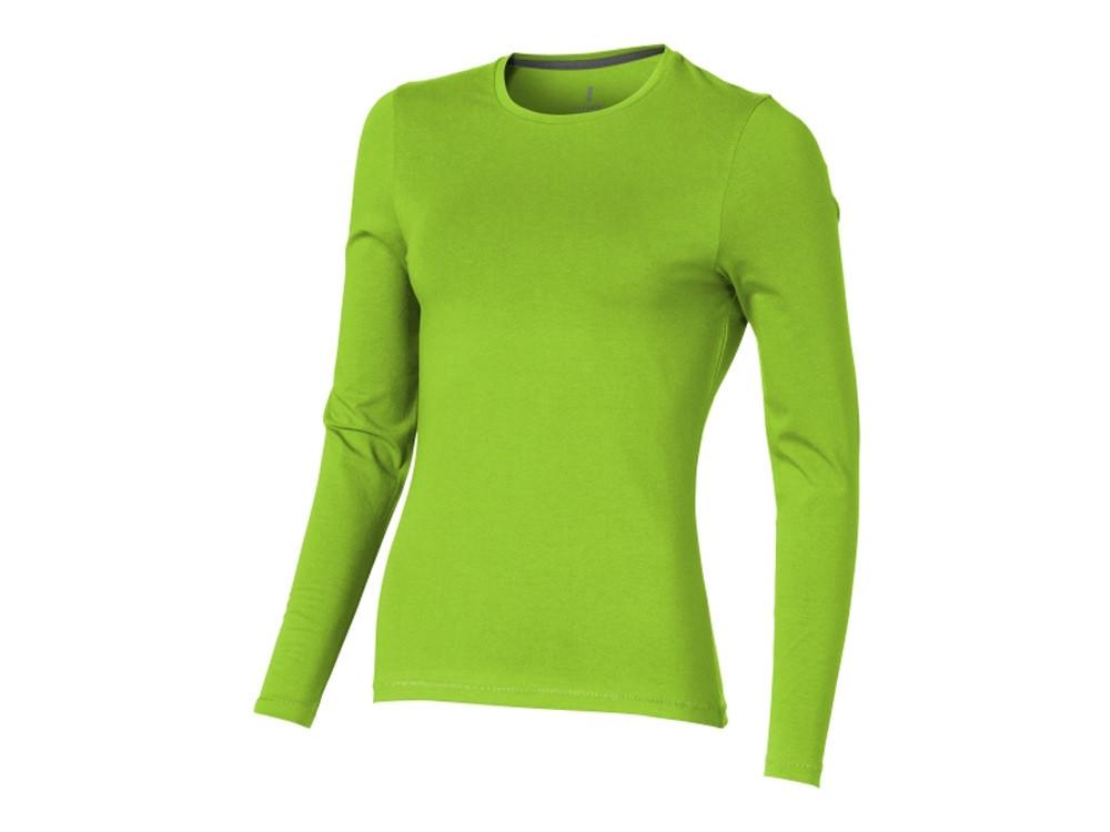 Ponoka женская футболка из органического хлопка, длинный рукав, зеленое яблоко (артикул 38019682XL)