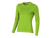 Ponoka женская футболка из органического хлопка, длинный рукав, зеленое яблоко (артикул 38019682XL), фото 1