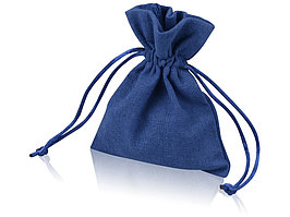 Мешочек подарочный, лен, малый, темно-синий (артикул 995003)