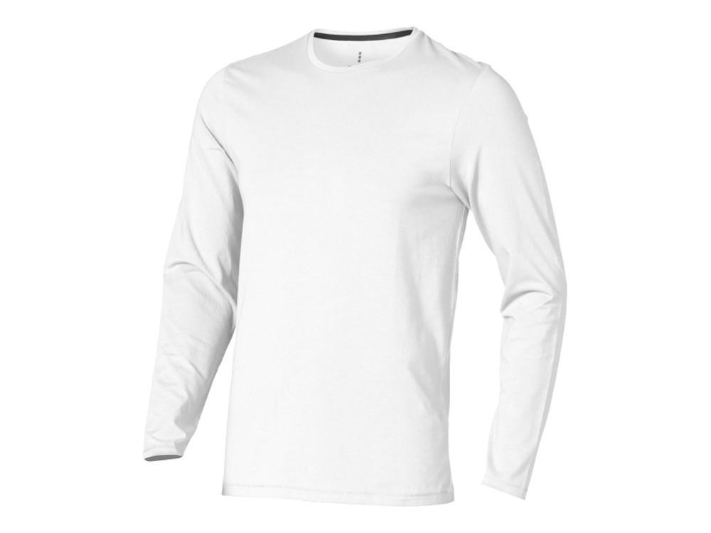 Ponoka мужская футболка из органического хлопка, длинный рукав, белый (артикул 3801801L)