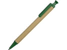 Ручка шариковая Эко, бежевый/зеленый (артикул 18340.03)