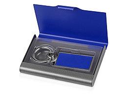 Набор Slip: визитница, держатель для телефона, серый/синий (артикул 676272)