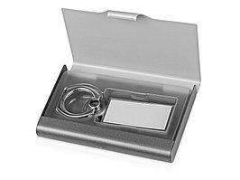 Набор Slip: визитница, держатель для телефона, серый/серебристый (артикул 676270)