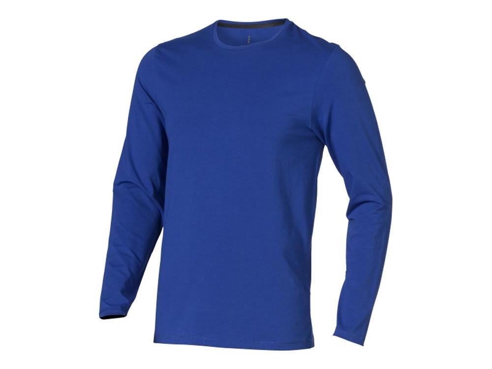 Ponoka мужская футболка из органического хлопка, длинный рукав, синий (артикул 3801844M)