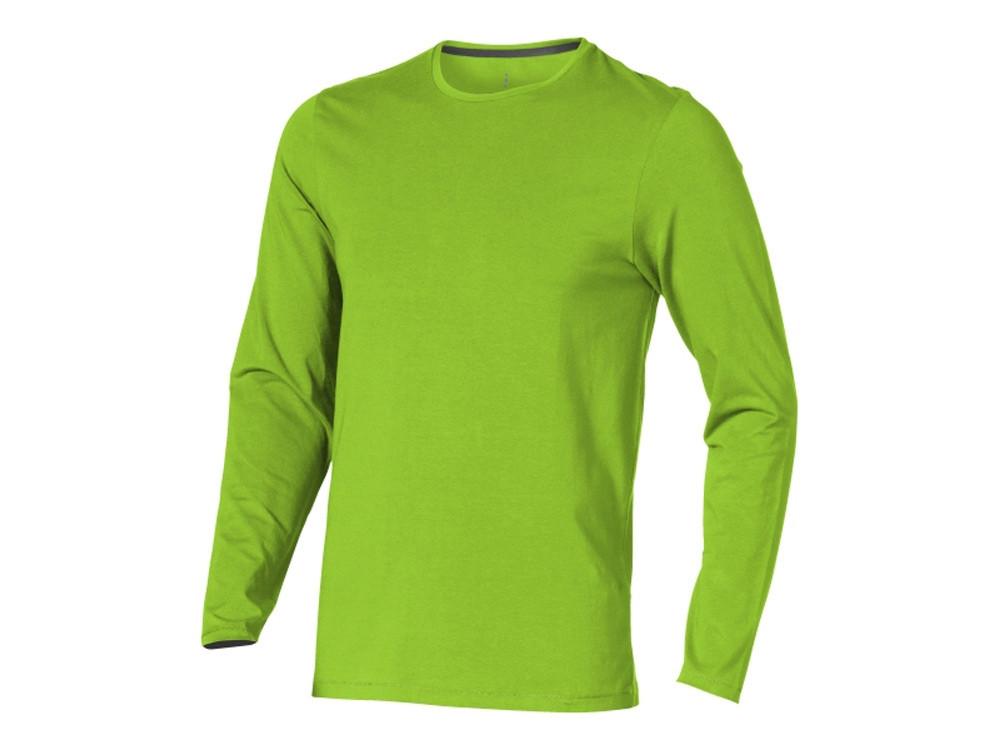 Ponoka мужская футболка из органического хлопка, длинный рукав, зеленое яблоко (артикул 3801868XS)