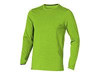 Ponoka мужская футболка из органического хлопка, длинный рукав, зеленое яблоко (артикул 3801868XS), фото 1
