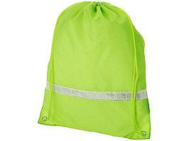 Рюкзак ''Premium'' со светоотражающей полоской, неоновый зеленый (артикул 19550053)