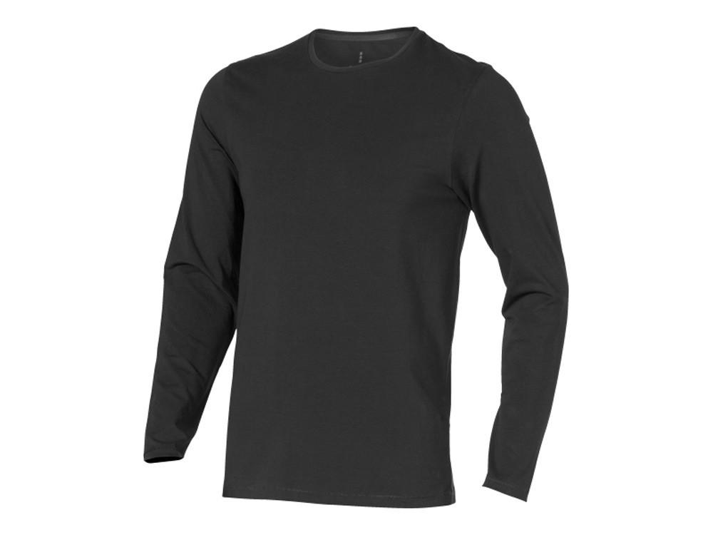 Ponoka мужская футболка из органического хлопка, длинный рукав, антрацит (артикул 3801895L)