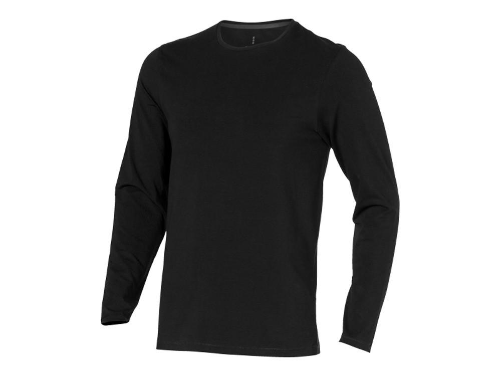 Ponoka мужская футболка из органического хлопка, длинный рукав, черный (артикул 3801899XS)