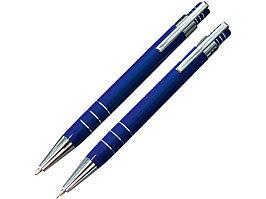 Набор Эльба: ручка шариковая, механический карандаш в футляре синий (артикул 51402.02)