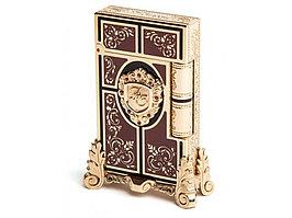 Зажигалка Second Empire Prestige. S.T.Dupont, золотистый/коричневый (артикул 16019)