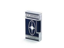 Зажигалка Orient Express Premium. S.T.Dupont, синий/серебристый (артикул 16028)