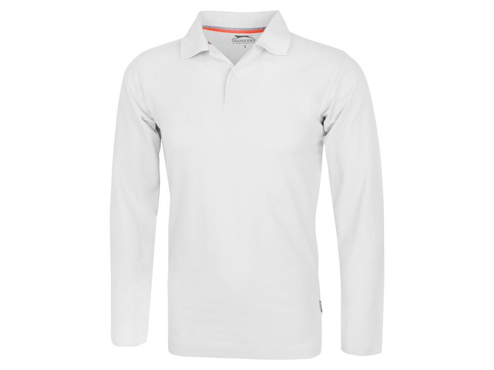 Рубашка поло Point мужская с длинным рукавом, белый (артикул 3310601S)