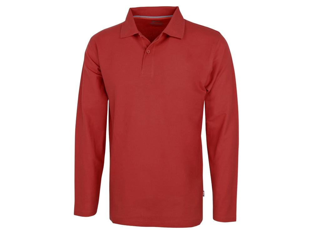 Рубашка поло Point мужская с длинным рукавом, красный (артикул 3310625S)