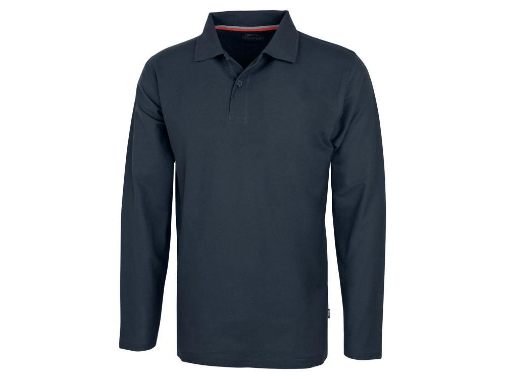 Рубашка поло Point мужская с длинным рукавом, темно-синий (артикул 3310649M)