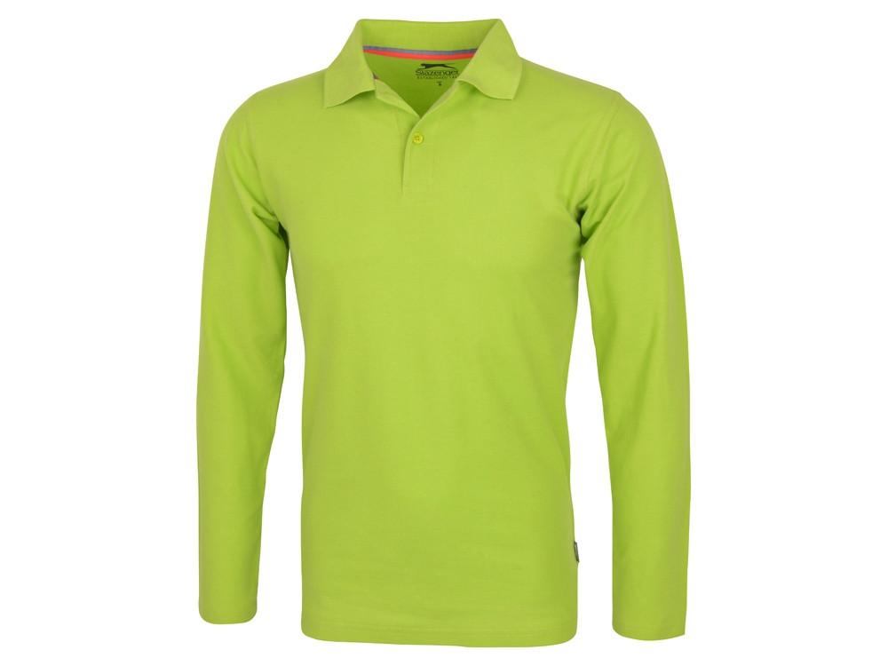 Рубашка поло Point мужская с длинным рукавом, зеленое яблоко (артикул 3310668S)