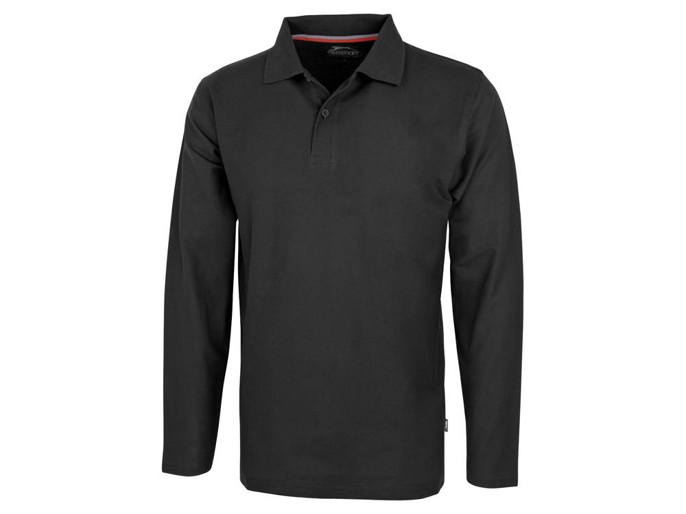 Рубашка поло Point мужская с длинным рукавом, черный (артикул 3310699S)