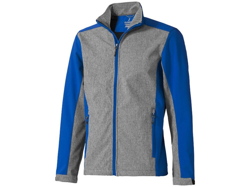 Куртка софтшел Vesper мужская, синий/темно-серый (артикул 3932744L) - фото 1