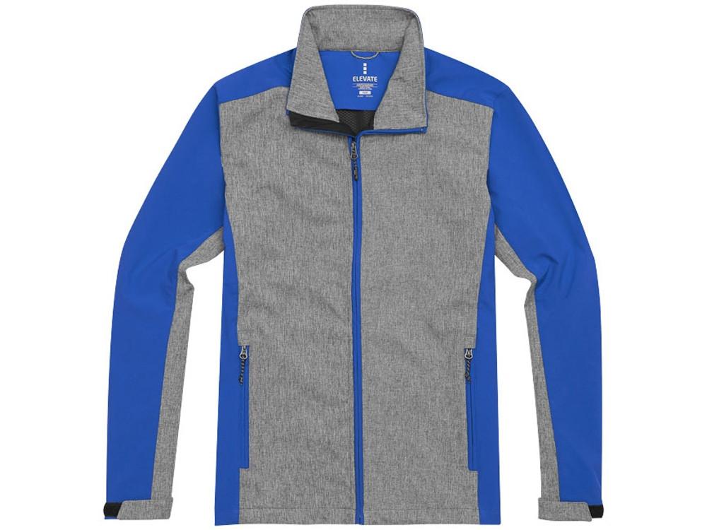 Куртка софтшел Vesper мужская, синий/темно-серый (артикул 3932744L) - фото 2