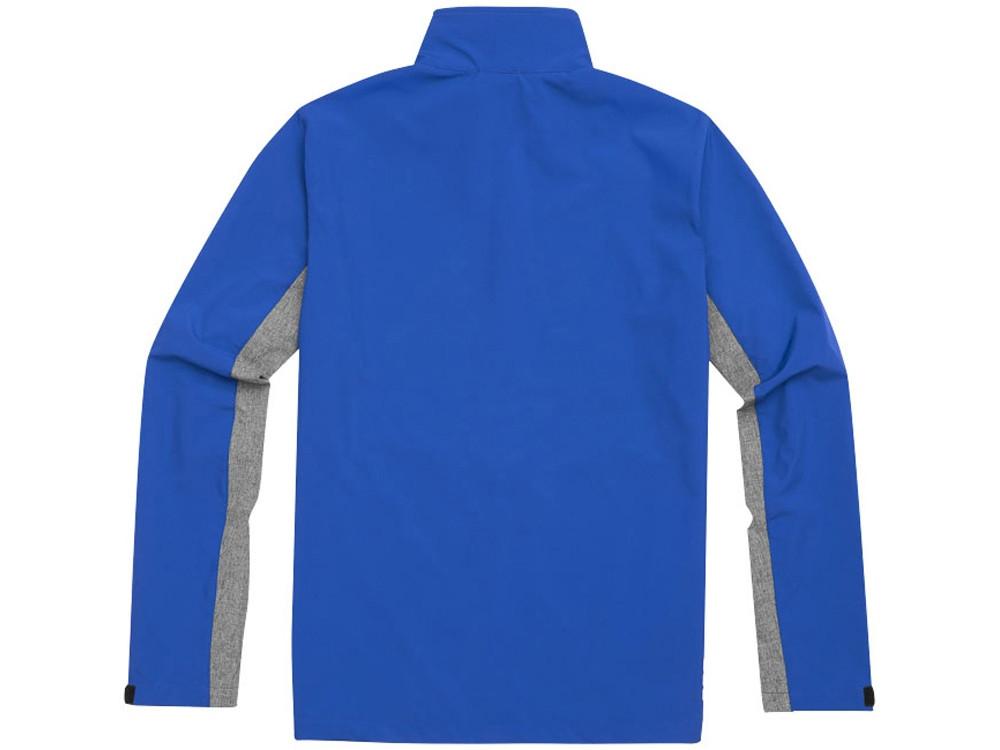 Куртка софтшел Vesper мужская, синий/темно-серый (артикул 3932744L) - фото 3