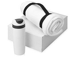 Подарочный набор Cozy с пледом и термокружкой, белый (артикул 700360.01)