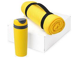 Подарочный набор Cozy с пледом и термокружкой, желтый (артикул 700360.02)