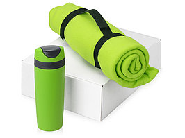 Подарочный набор Cozy с пледом и термокружкой, зеленый (артикул 700360.03)