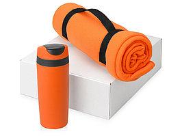 Подарочный набор Cozy с пледом и термокружкой, оранжевый (артикул 700360.05)