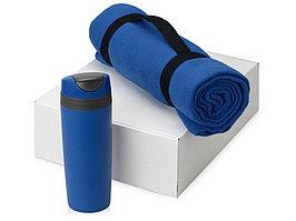 Подарочный набор Cozy с пледом и термокружкой, синий (артикул 700360.06)