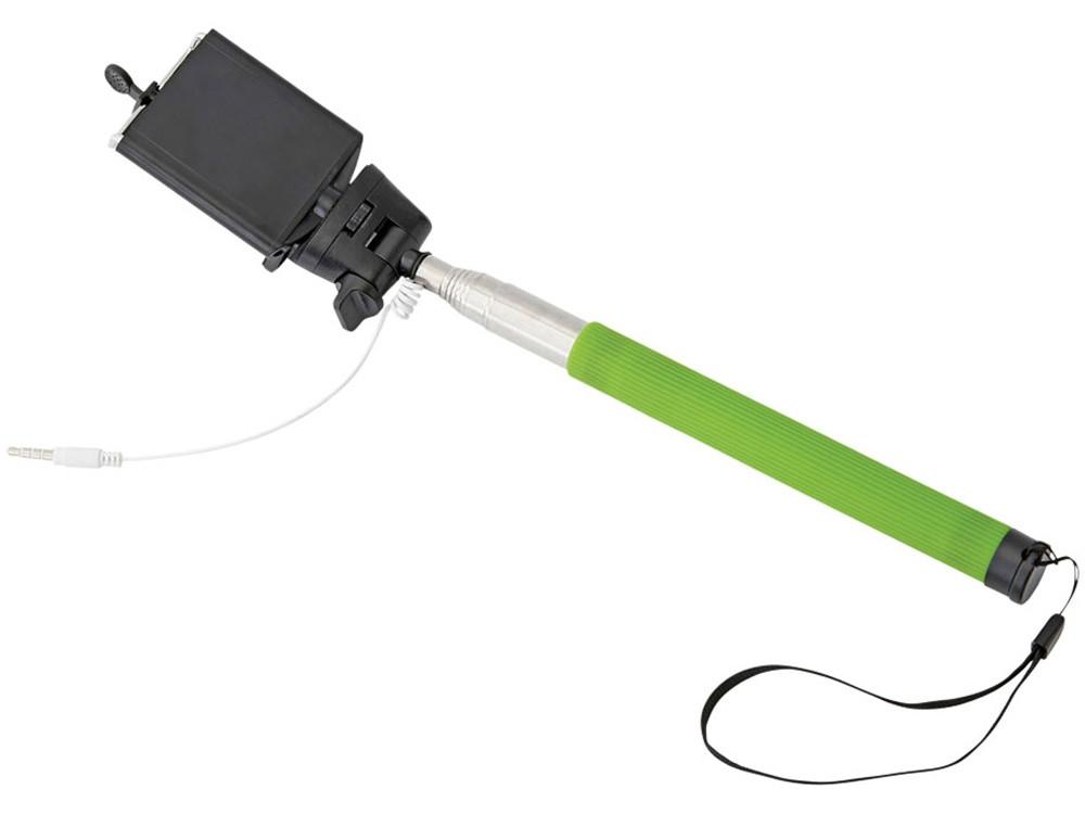 Монопод проводной Wire Selfie, лайм (артикул 13416504)