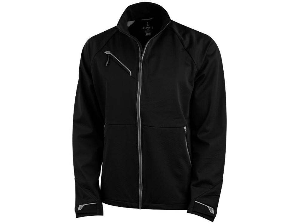 Куртка софтшел Kaputar мужская, черный (артикул 3932599XL)