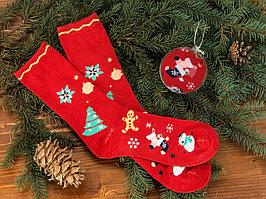 Носки в шаре Рождество мужские, красный (артикул 791811)