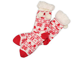 Домашние носки женские, красный (артикул 790811)