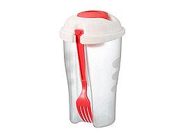 Набор для салата Shakey: салатник, вилка, контейнер для соуса (артикул 11261604)