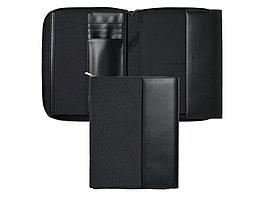 Папка для конференций А4 Advance. Hugo Boss, темно-серый/черный (артикул HTF705J)