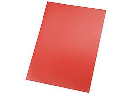 Папка- уголок, для формата А4, плотность 180 мкм, красный матовый (артикул 19102)