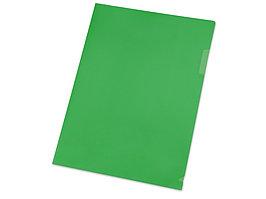Папка- уголок, для формата А4, плотность 180 мкм, зеленый матовый (артикул 19104)