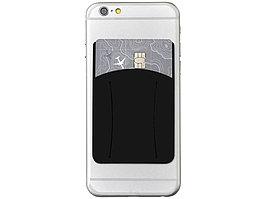 Картхолдер для телефона с отверстием для пальца, черный (артикул 13427000)