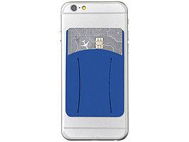 Картхолдер для телефона с отверстием для пальца, ярко-синий (артикул 13427001)