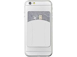 Картхолдер для телефона с отверстием для пальца, белый (артикул 13427002)