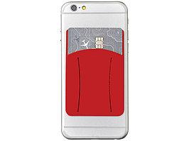 Картхолдер для телефона с отверстием для пальца, красный (артикул 13427003)