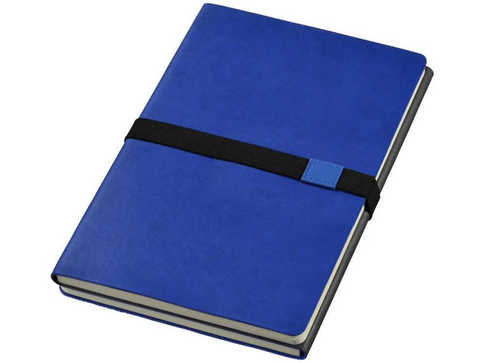 Блокнот А5 Doppio, темно-синий/серый (артикул 10669001)