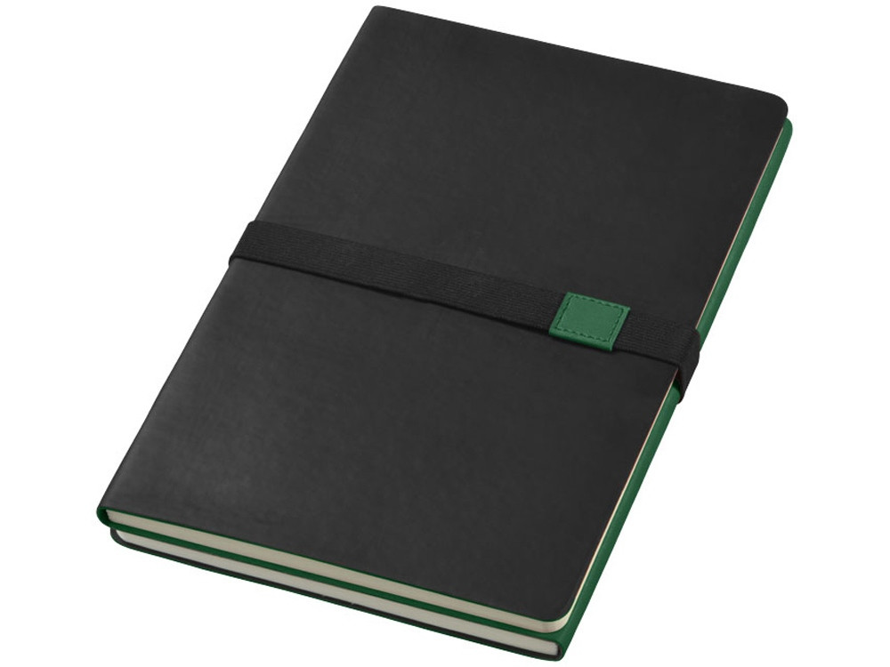 Блокнот А5 Doppio, зеленый/черный (артикул 10669004)