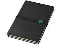 Блокнот А5 Doppio, зеленый/черный (артикул 10669004), фото 1