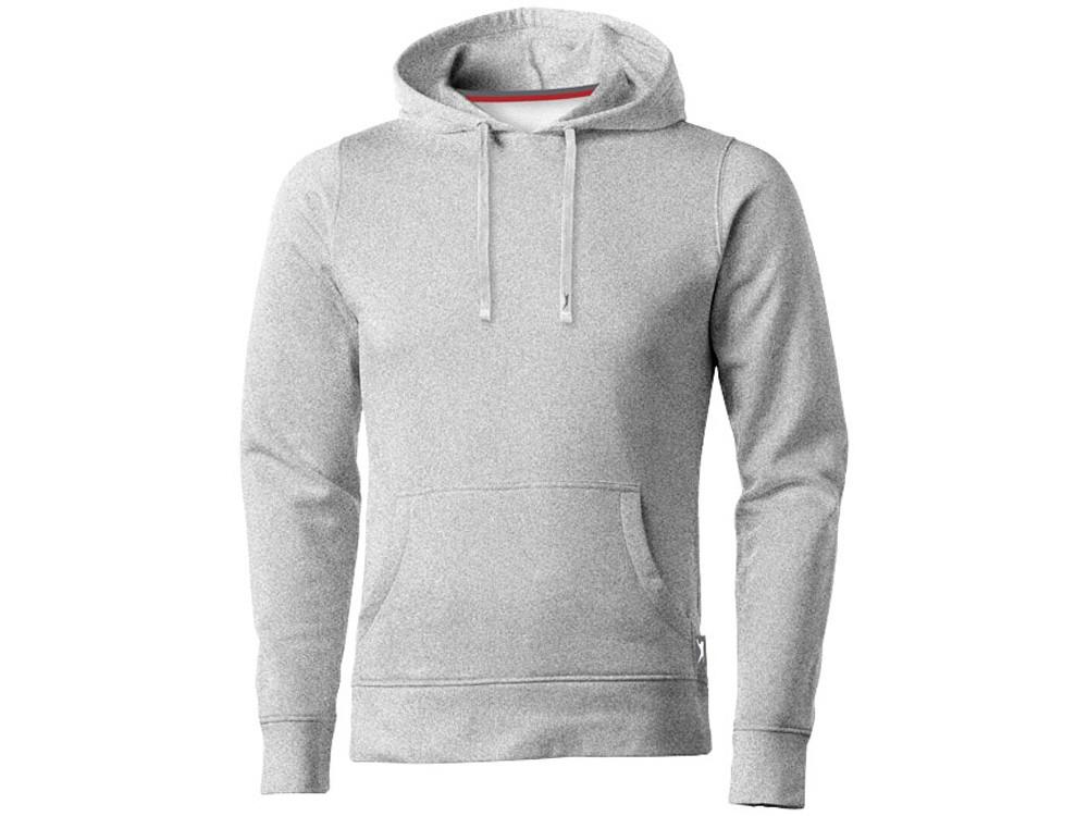 Толстовка Alley мужская с капюшоном, серый меланж (артикул 3323895S)